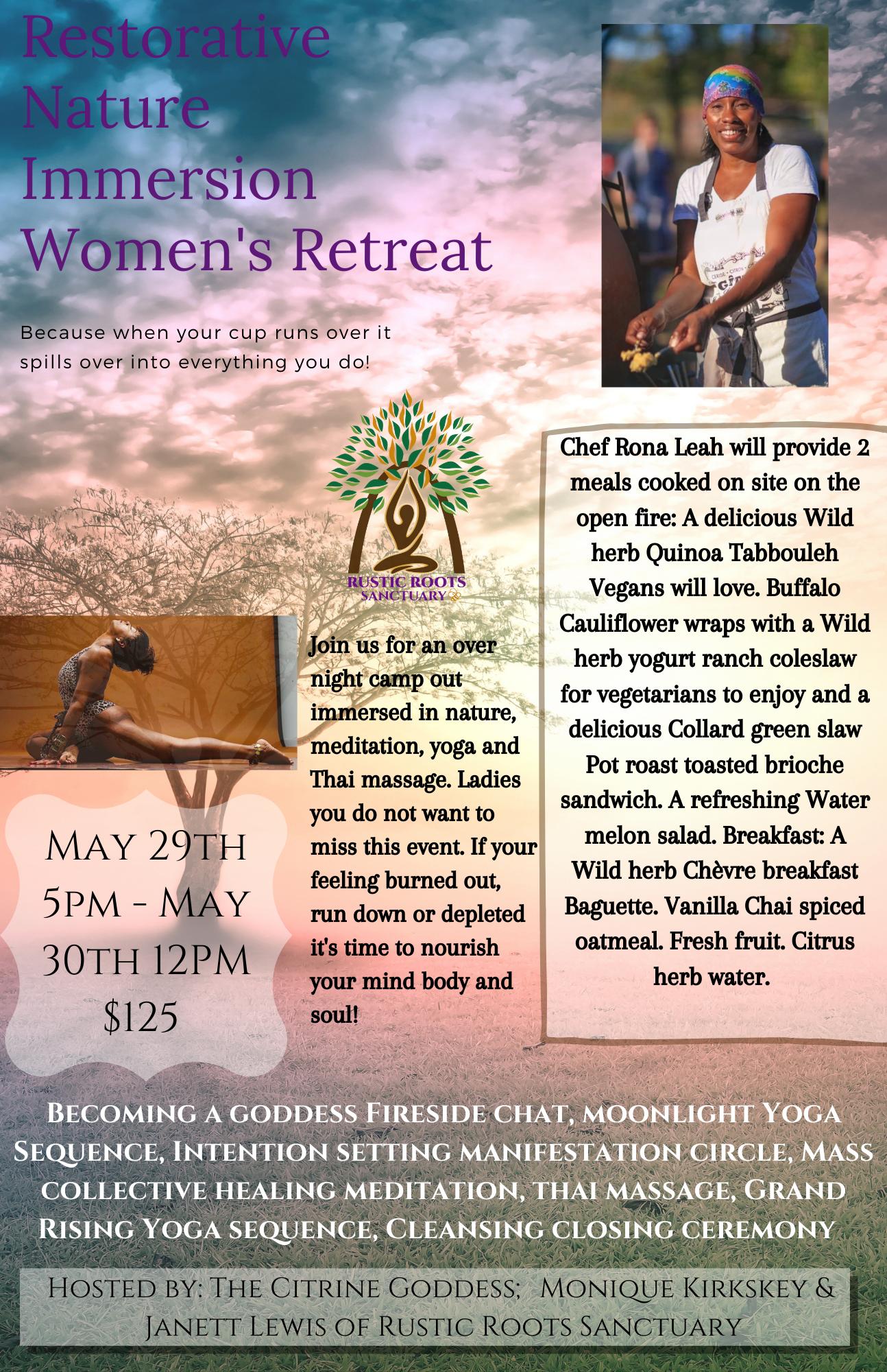 Nature Immersion Women's Retreat